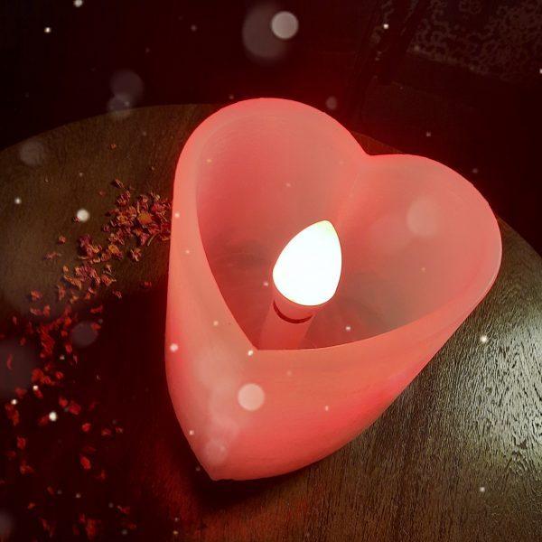 Lámpara de Cera Corazón