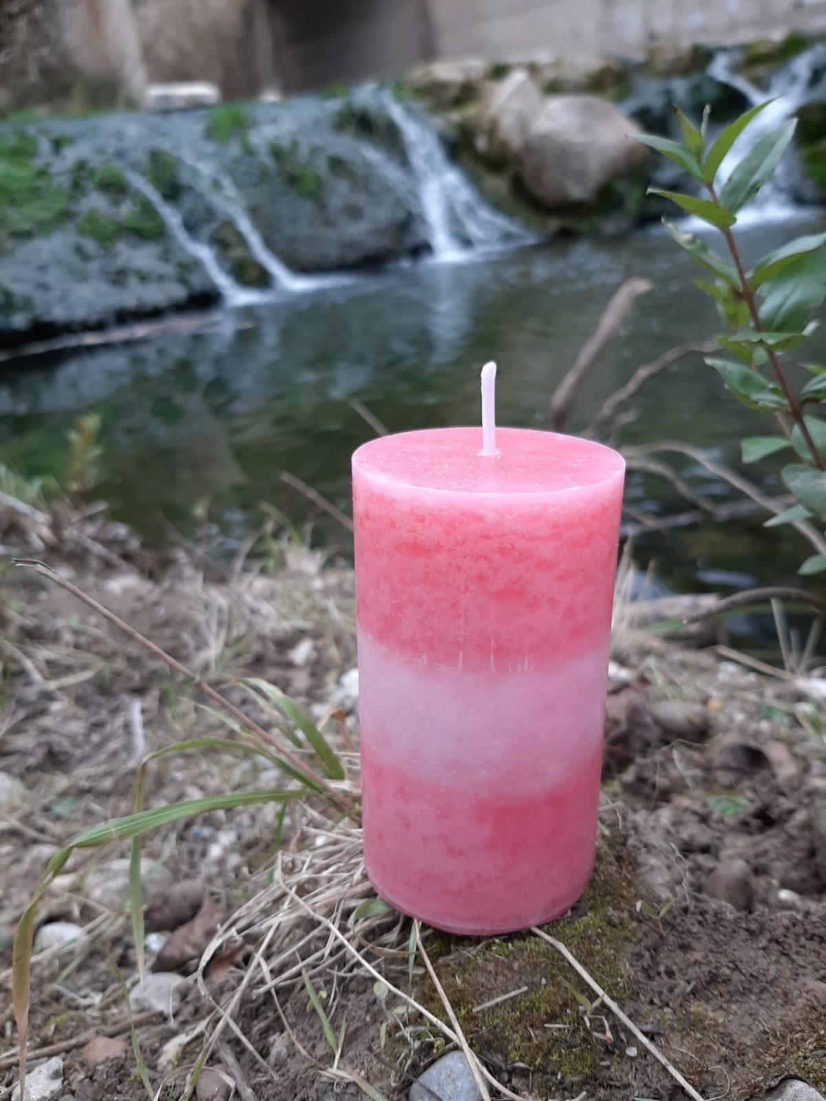 Vela con Aroma Champagne Strawberry Premium