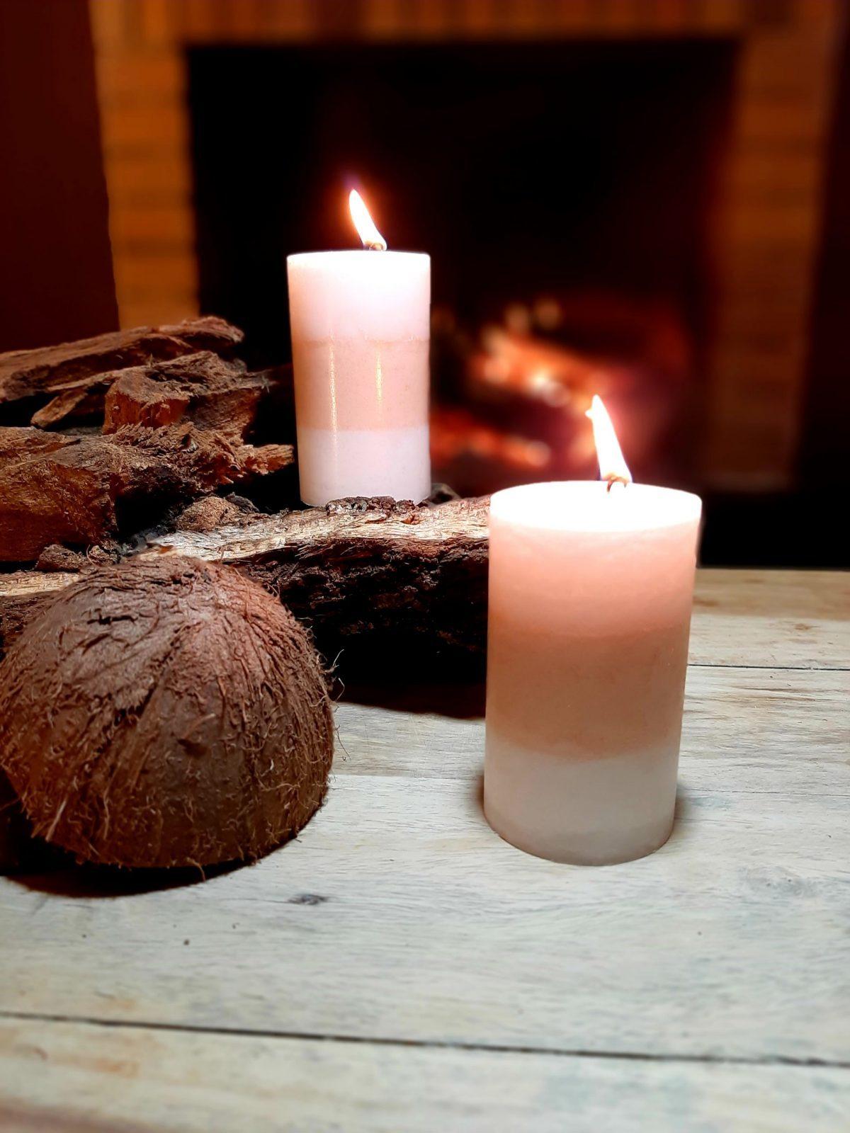 NaturalDreams8 • Vela con Aroma Coco Premium