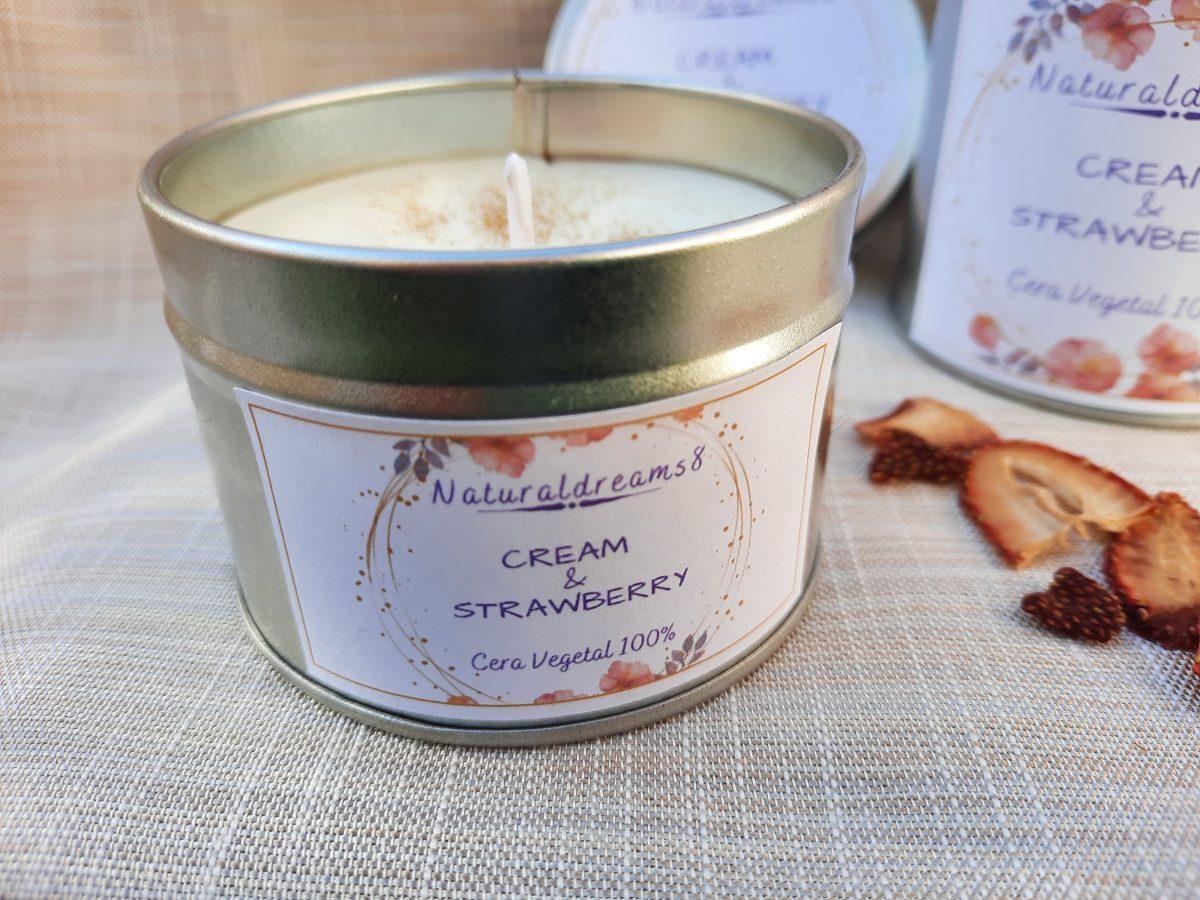 NaturalDreams8 • Cera Vegetal Cream & Strawberry