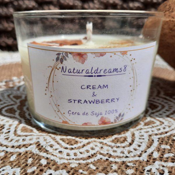 Cera de Soja Cream & Strawberry
